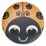 Halloween Ladybug Plate
