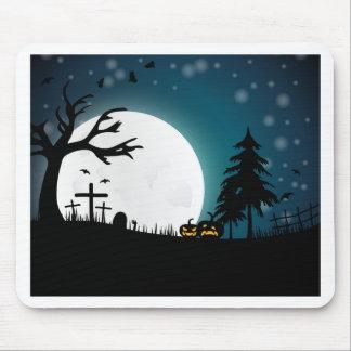 Halloween landscape mouse pad