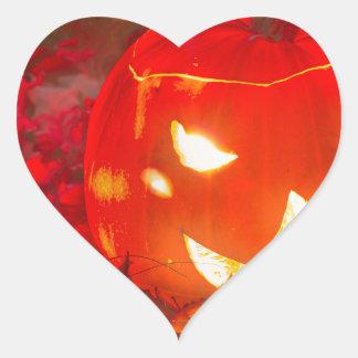 Halloween lantern heart sticker