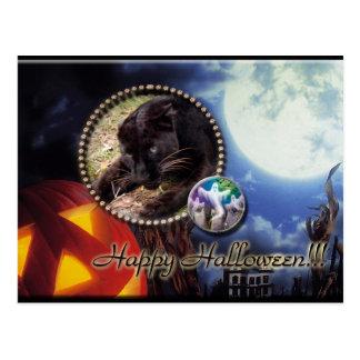 Halloween Leopard Post Cards