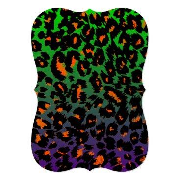 Halloween Themed Halloween Leopard Print Fade Pattern Card
