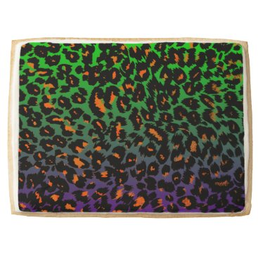 Halloween Themed Halloween Leopard Print Fade Pattern Jumbo Shortbread Cookie
