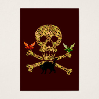 Halloween Leopard Skull Business Card
