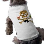 Halloween Leopard Skull Dog T Shirt