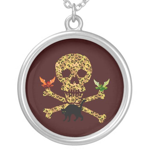 Halloween Leopard Skull Personalized Necklace
