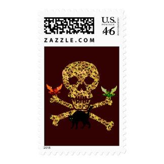 Halloween Leopard Skull Stamp