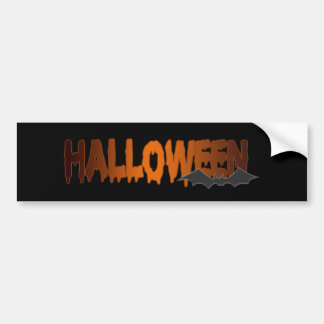 Halloween lettering bat bumper sticker