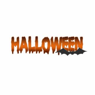 Halloween lettering bat cutout