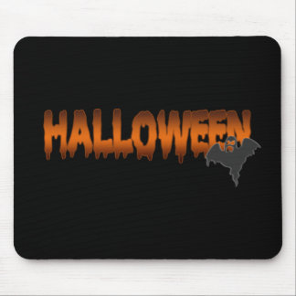 Halloween lettering ghost mouse pad