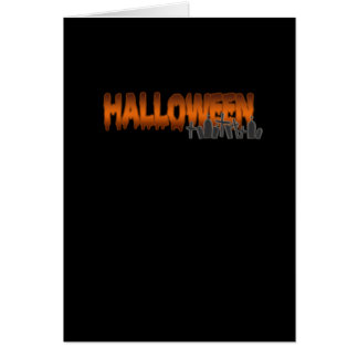 Halloween lettering tombs card