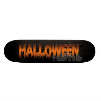 Halloween lettering tombs skate board deck