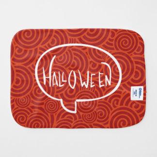 Halloween Letters Minimal Burp Cloth