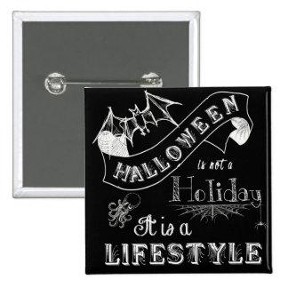 Halloween Lifestyle Chalk Art 2 Inch Square Button