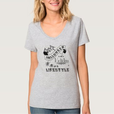 Halloween Themed Halloween Lifestyle Chalk Art T-Shirt