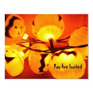 Halloween Lights of Pumpkins Invitation