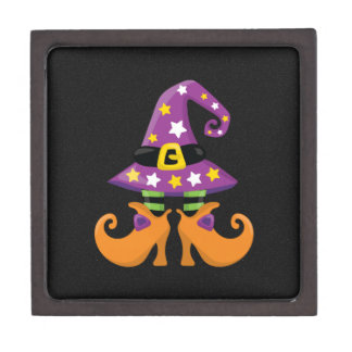 Halloween lindo retro caja de recuerdo de calidad