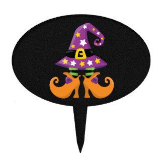 Halloween lindo retro decoración para tarta