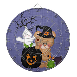 Halloween lindo retro tablero de dardos