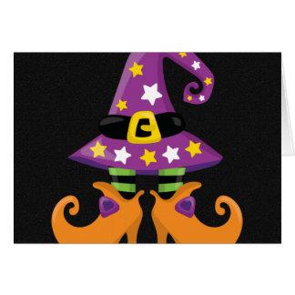 Halloween lindo retro felicitación