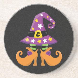 Halloween lindo retro posavasos personalizados