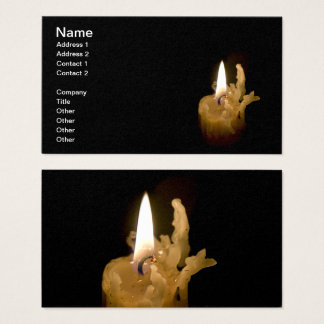 Halloween Lite Candle and Burnt Wick Business Card