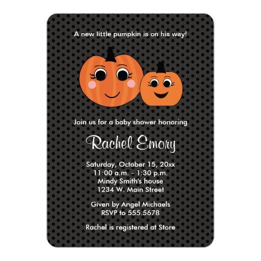 Baby Boy Gifts Halloween : Halloween little boy pumpkin baby shower card zazzle