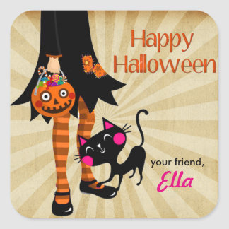 Halloween Little Girl favor goodie bag stickers