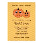 "Halloween Little Pumpkin Baby Shower Invitations 5"" X 7"" Invitation Card"