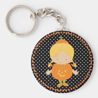 Halloween Little Pumpkin Girl Key Chains