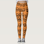 "Halloween Little Skulls Pumpkin Orange Pattern Leggings<br><div class=""desc"">Halloween Little Skulls Pumpkin Orange Pattern Legging</div>"