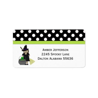 Halloween:Little Witch Address Labels