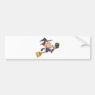Halloween Little Witch Bumper Sticker