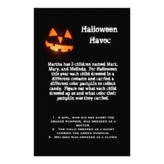 Halloween Logic Puzzle Stationery