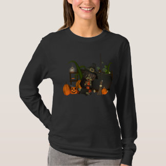 Halloween long sleve t shirt moonies witch