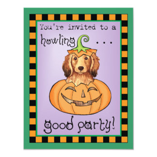 Halloween Longhaired Dachshund Card