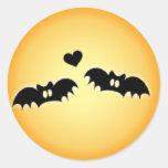 Halloween Love Envelope Seal Round Sticker