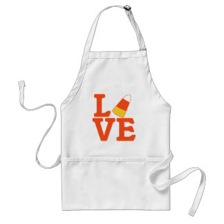 Halloween LOVE with Candy Corn Adult Apron