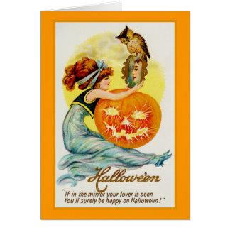 Halloween Lover Vintage Illustration Greeting Card