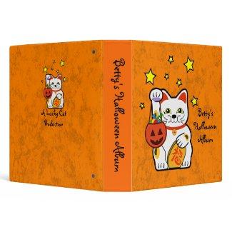 Halloween lucky cat binder