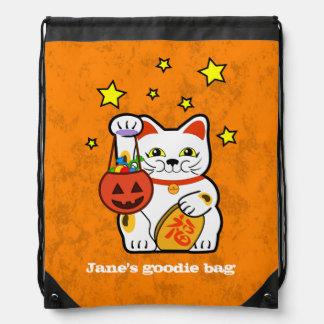 Halloween lucky cat backpack