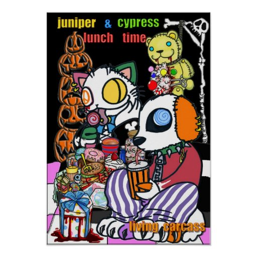 Halloween lunch poster