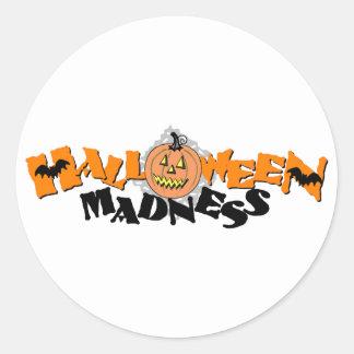 Halloween Madness Classic Round Sticker