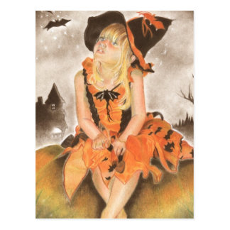 Halloween Magic Postcard