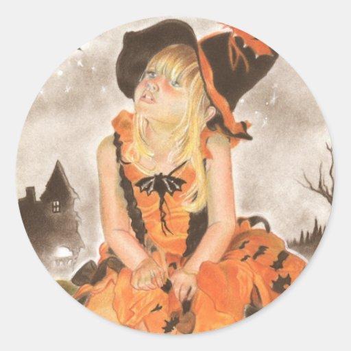 Halloween Magic Round Stickers