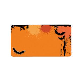 Halloween Mailing Address Labels