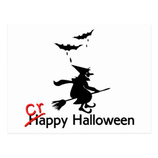Halloween malo feliz postal