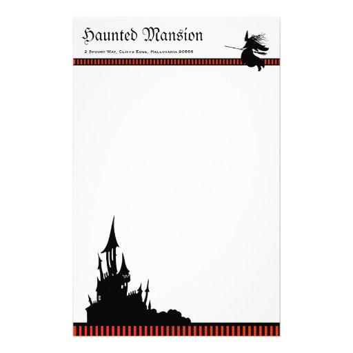 Halloween Mansion Stationery