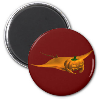 Halloween Manta Ray 2 Inch Round Magnet