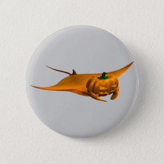 Halloween Manta Ray Button