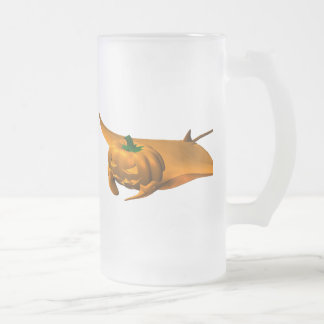 Halloween Manta Ray Frosted Glass Beer Mug
